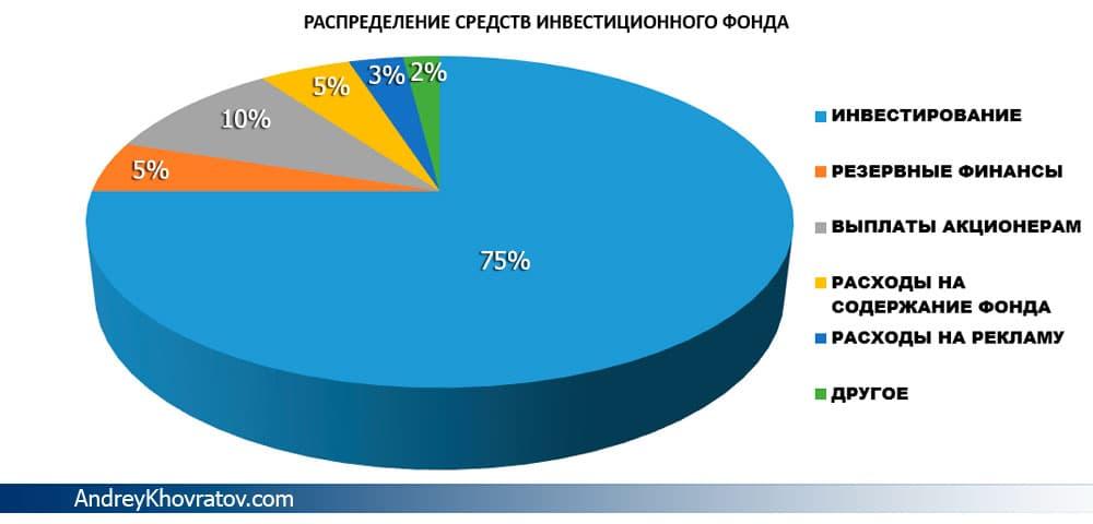 распределение средств инвестиционного фонда (картинка)