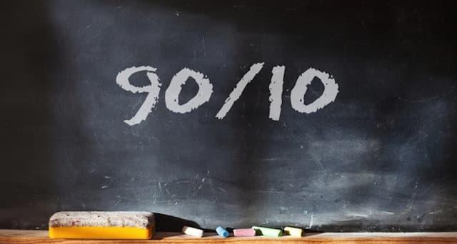 Правило 90 на 10 Стивена Кови в жизни