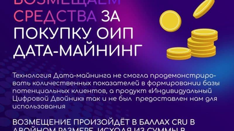 Возмещение средств за покупку ОИП Дата Майнинг